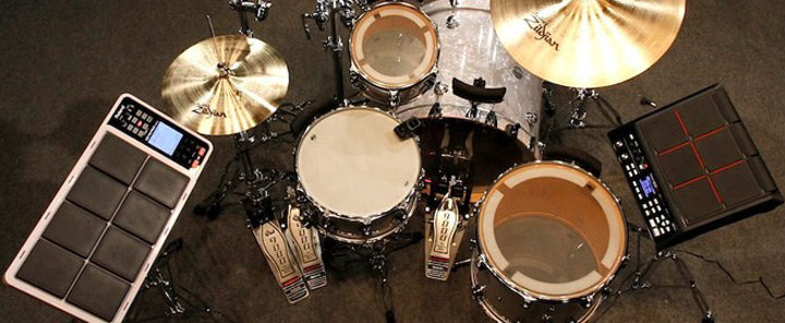 Acoustic and Electronic Hybrid Drum Kit