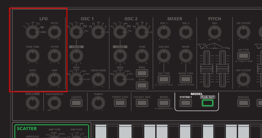 System-1 Plug Out Synth lfo-2