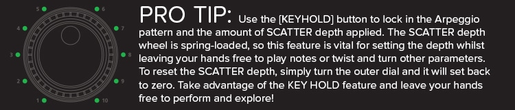 System-1 Plug Out Synth tip-keyhold