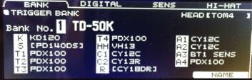 Roland TD-50 Screen