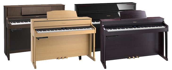 Roland pianos that support Bluetooth