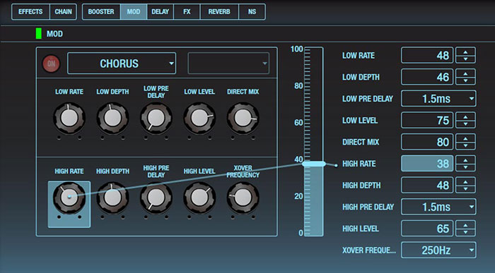 BOSS Tone Studio Editor - The MOD Functions