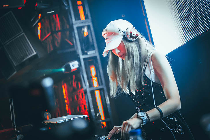 DJ playing a set