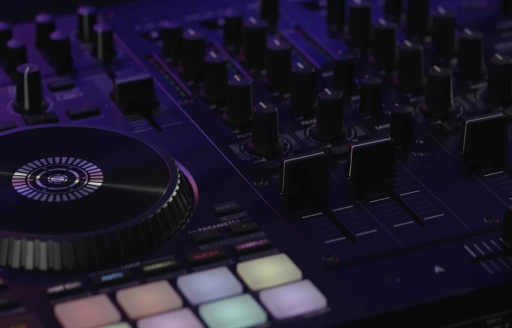 DJ mixing gear