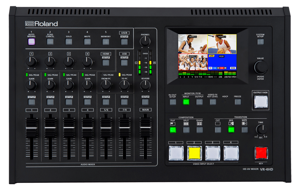 The Roland VR-4HD vision mixer