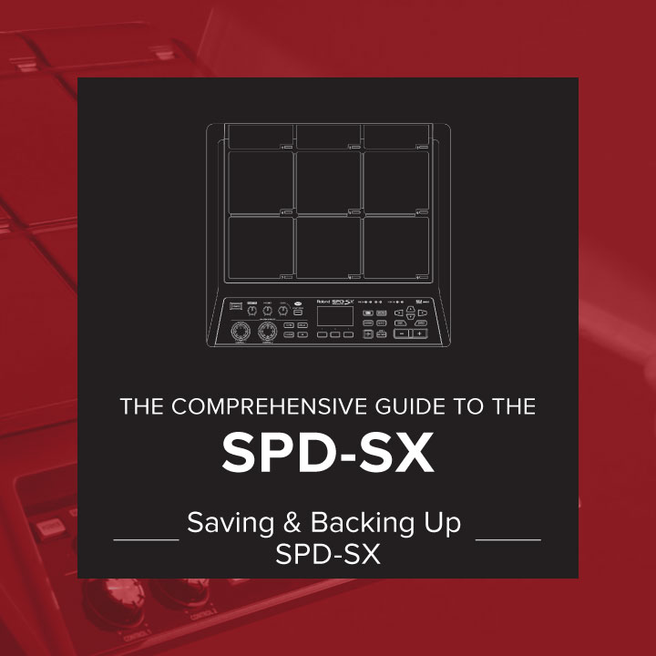 saving and backing up SPD-SX