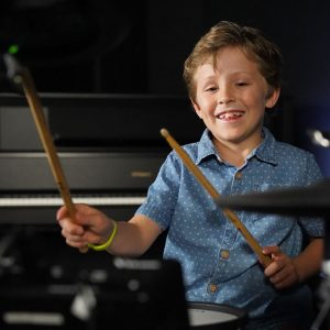 kid wants to learn the drums