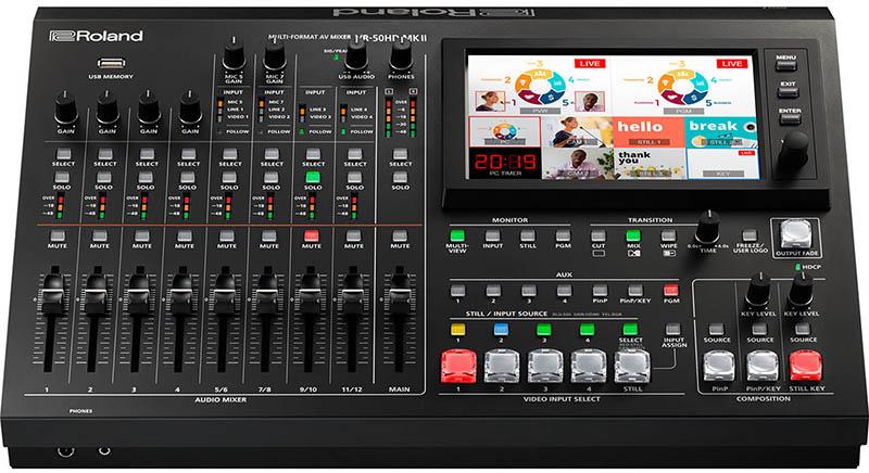 VR-50HD MKII live streaming mixer