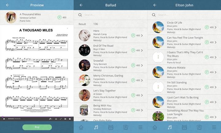 piano app screenshots