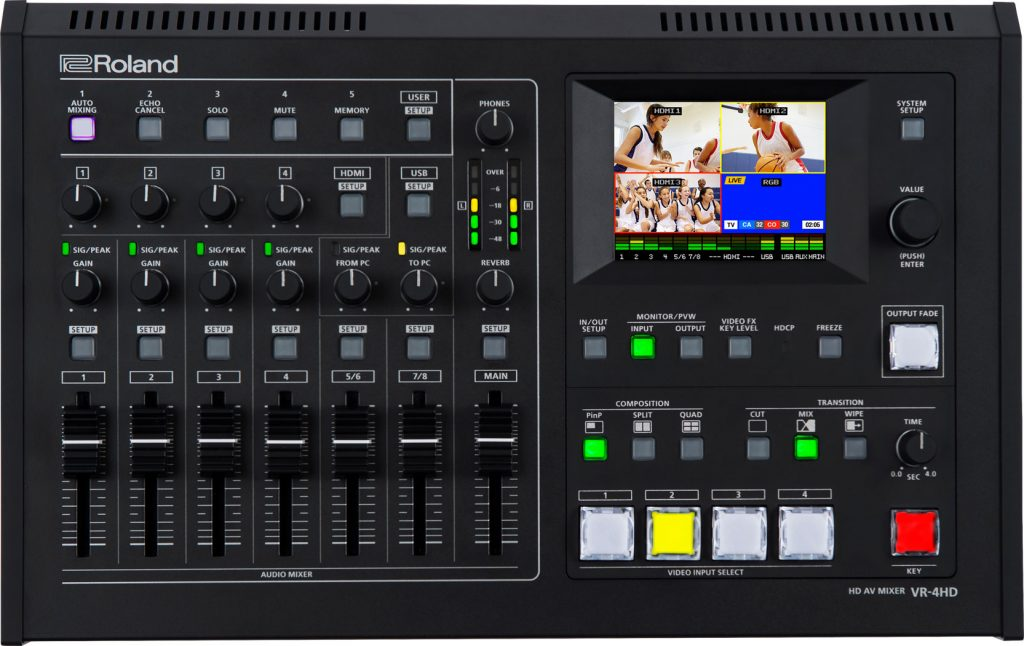 VR-4HD live streaming mixer