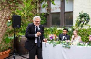 Wedding using the DJ-707M