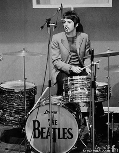 The Beatles Paul Drumming