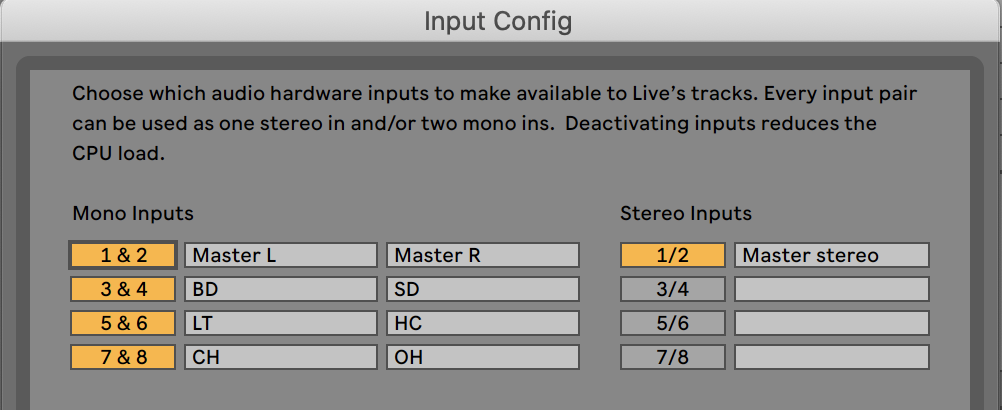 Routing audio in Ableton from TR-6S