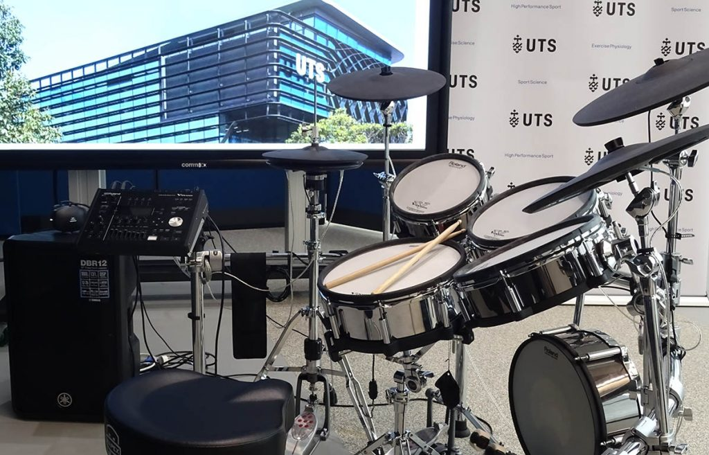 V-Drums used to monitor drummers fitness and coordination levels