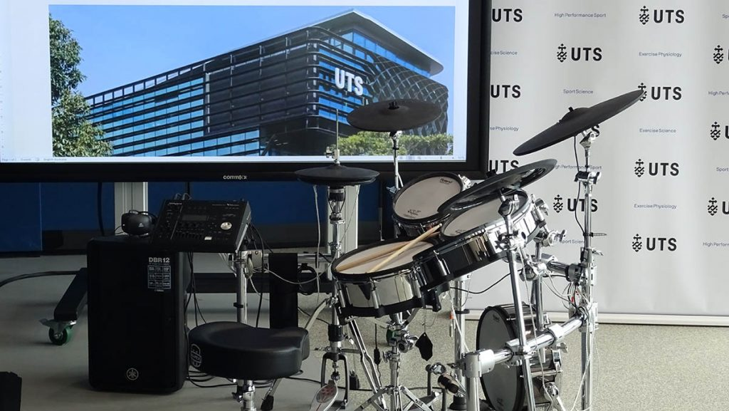 scientists using V-Drums to analyse motor skills