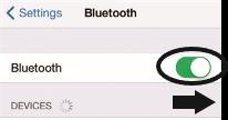 Bluetooth menu