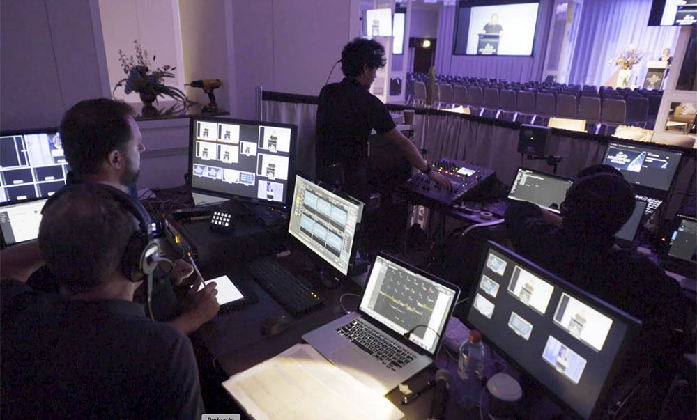 hybrid events - attendees plus streaming to an online audience